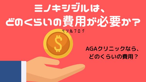 AGA治療のミノキシジルをAGAクリニックで始めると、どのくらいの治療費用が必要か?