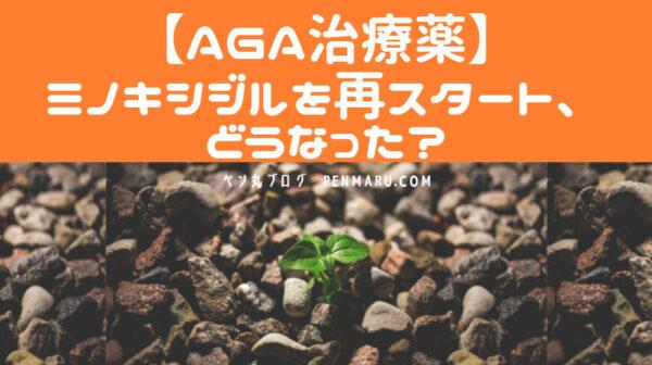 AGA治療薬のミノキシジルの服用を再スタートすれば、どうなったのか?
