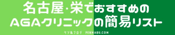 愛知県の名古屋・栄で始めるAGA治療の簡易AGAクリニック・リスト