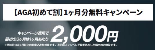【AGA初めて割】1ヶ月分無料キャンペーン ふくろうアイクリニック