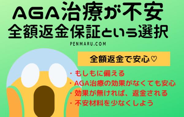 ③AGA治療が不安な方へ【全額返金返金保証】
